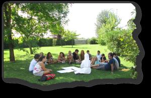 pastorale giovanile sul giardino di Casa Madre!